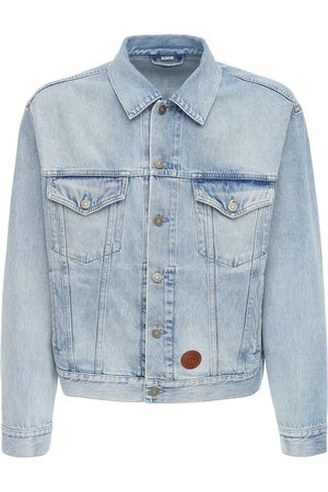 Gucci Logo Embossed Patch Cotton Denim Jacket
