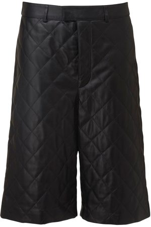 DODO BAR OR Ossi Quilted Leather Bermuda Shorts