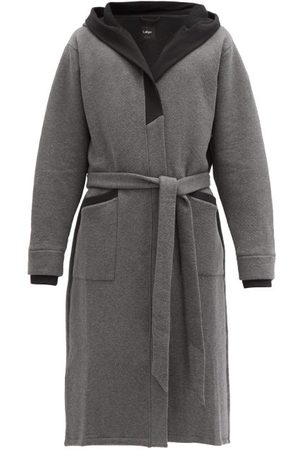 Lahgo Restore Hooded Cotton-blend Jersey Robe - Mens - Dark Grey