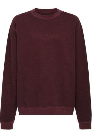 Maison Margiela Logo Print Cotton Sweatshirt