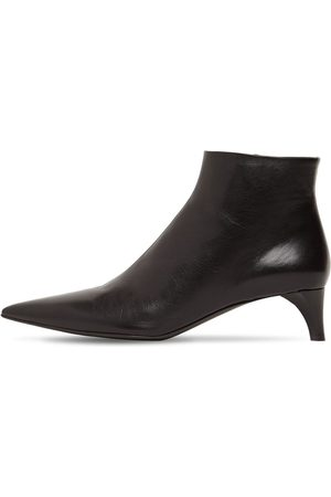 Jil Sander 45mm Leather Ankle Boots