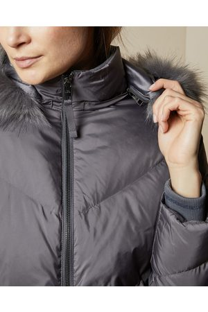 Ted Baker Quilted Jacket With Faux Fur Hood