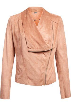 BLANK NYC Women's Faux Suede Drape Front Jacket