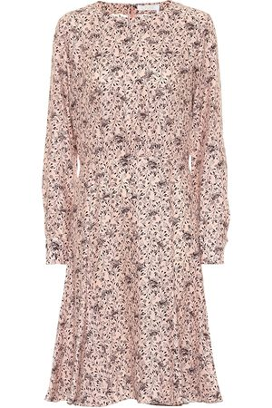 Chloé Printed silk crêpe midi dress