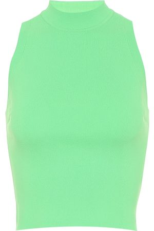 Adam Selman Sport Ribbed-knit nylon tank top