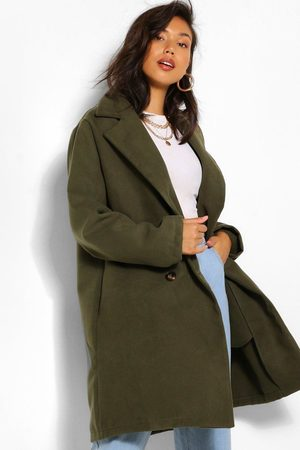 Boohoo Womens Double Breasted Wool Look Coat - - 4