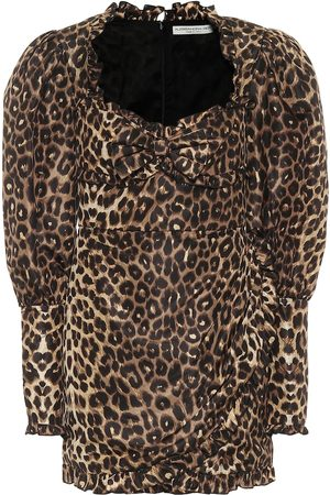 Alessandra Rich Leopard-print silk minidress