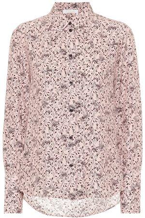 Chloé Printed silk crêpe shirt