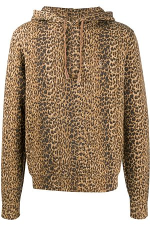 Saint Laurent Leopard print hoodie