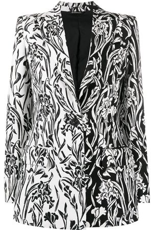 Givenchy Floral-pattern single-breasted blazer