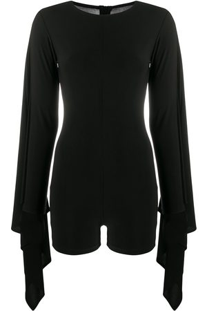 Alchemy Women Playsuits - Draped sleeves playsuit