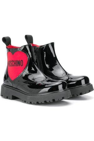 Moschino Girls Rain Boots - Heart-logo rain boots