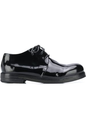 MARSÈLL Lace-up patent Oxford shoes
