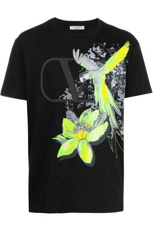 VALENTINO Jungle-print VLOGO T-shirt