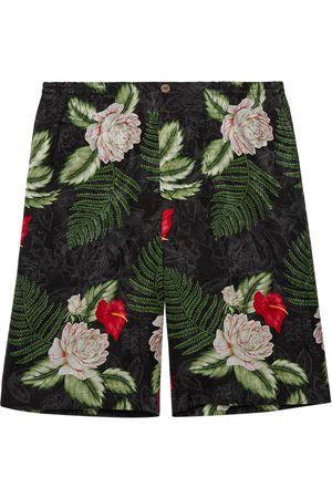 Gucci Hawaiian-print shorts
