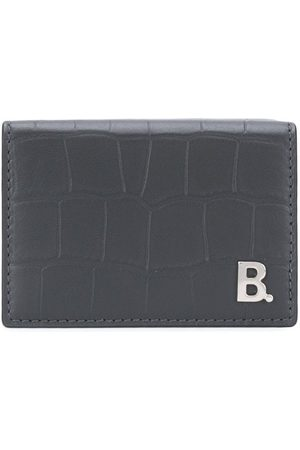 Balenciaga B mini wallet - Grey