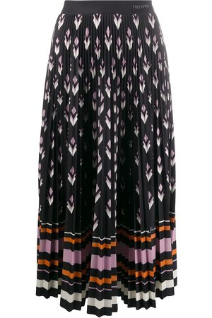VALENTINO Women Printed Skirts - Pleated multi-print skirt