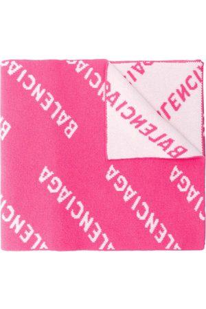 Balenciaga Women Scarves - All-over logo scarf