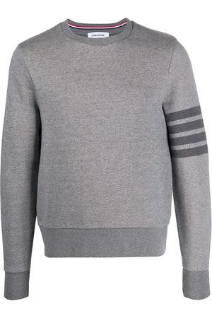 Thom Browne Crew neck cotton sweatshirt - Grey