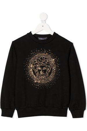 VERSACE Girls Hoodies - Rhinestone logo sweatshirt