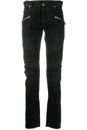 Balmain Monogram detail slim-fit jeans