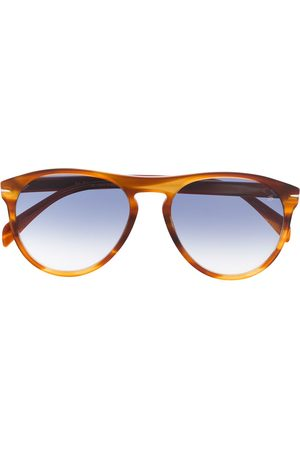 Eyewear by David Beckham Aviator havana sunglasses