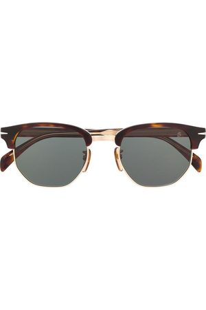 Eyewear by David Beckham Half-frame wayfarer sunglasses