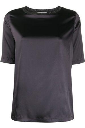Fabiana Filippi Satin silk T-shirt - Grey