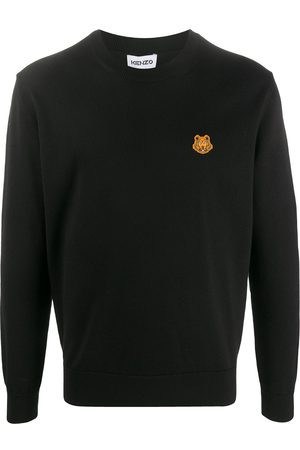Kenzo Tiger patch wool jumper