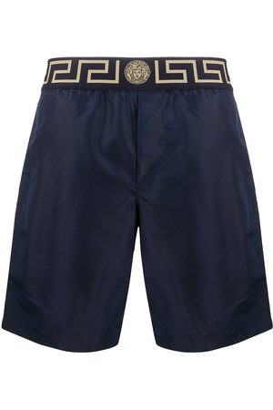 VERSACE Men Swim Shorts - Greca border swim shorts