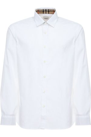 Burberry Serjeants Stretch Cotton Poplin Shirt