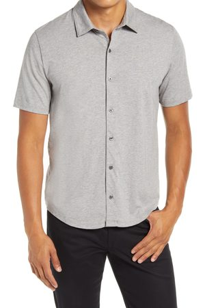 Vince Men's Short Sleeve Button-Up Knit Shirt
