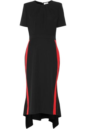 Alexander McQueen Virgin wool crêpe midi dress