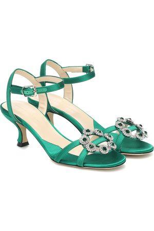 Christopher Kane Embellished satin sandals