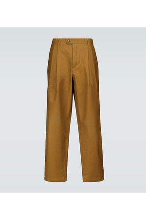 King and Tuckfield Tapered pleated pants