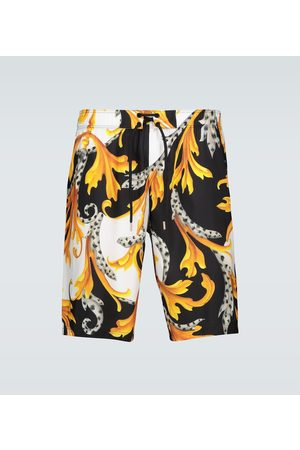 VERSACE Baroque printed swim shorts