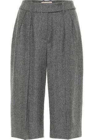 ALEXANDRE VAUTHIER Wool herringbone culottes