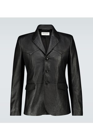Saint Laurent Slim-fit leather jacket