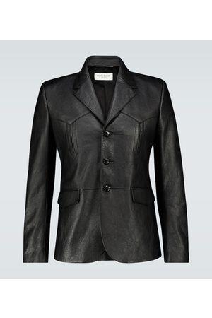 Saint Laurent Slim-fit leather jacket