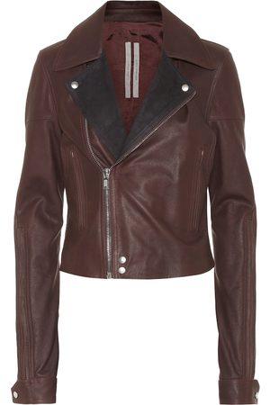 Rick Owens Dracu leather biker jacket
