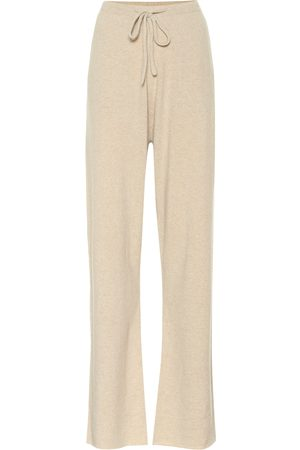 EXTREME CASHMERE Women Wide Leg Pants - N° 142 Run cashmere-blend trackpants