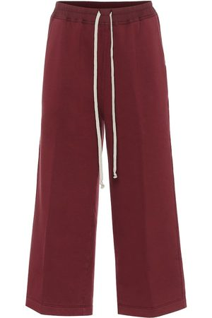 Rick Owens Felpa cropped cotton trackpants