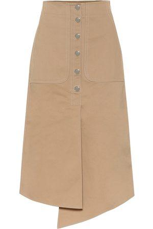 tibi Myriam cotton twill midi skirt