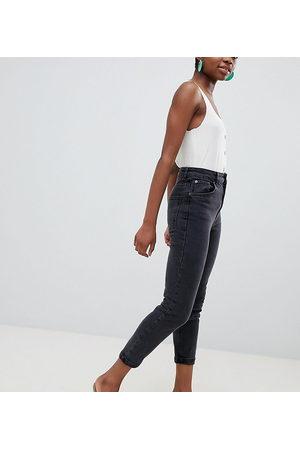 ASOS ASOS DESIGN Petite high rise farleigh 'slim' mom jeans in washed