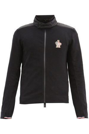 Moncler Logo-patch Fleece Track Jacket - Mens