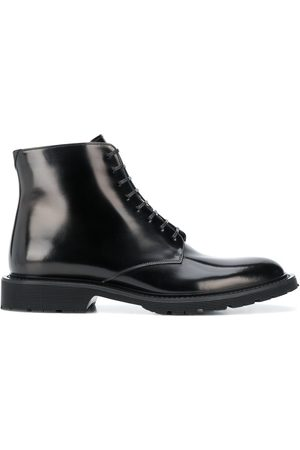 Saint Laurent Lace-up polished ankle boots