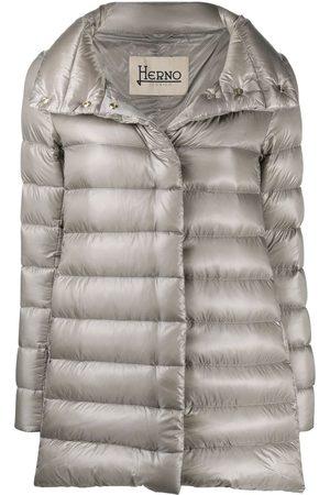 HERNO Women Parkas - Amelia padded coat - Grey