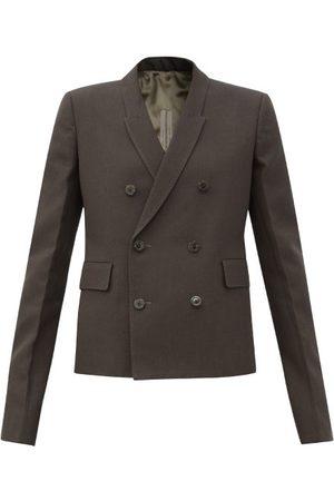 Rick Owens Women Blazers - Double-breasted Crepe Jacket - Womens - Grey