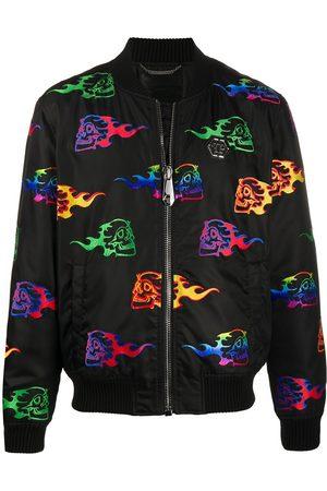 Philipp Plein Skull-embroidery bomber jacket