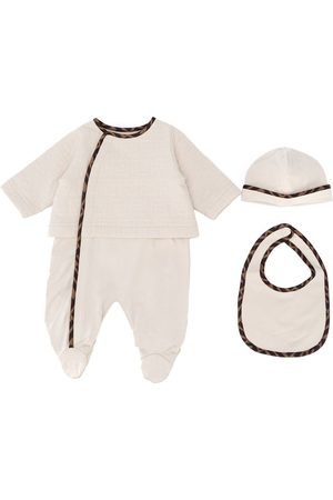 Fendi Bodysuits & All-In-Ones - FF quilted babgrow set - Neutrals